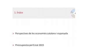 Economia catalana darrer trimestre de 2014
